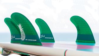 ananas surf quad fins