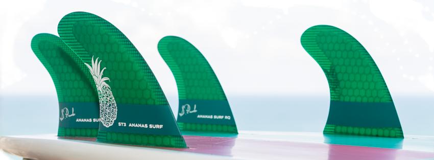 Ananas Surf quad surfboard fins