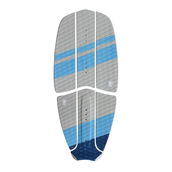 Ananas Surf kitesurfboard blue traction pad set