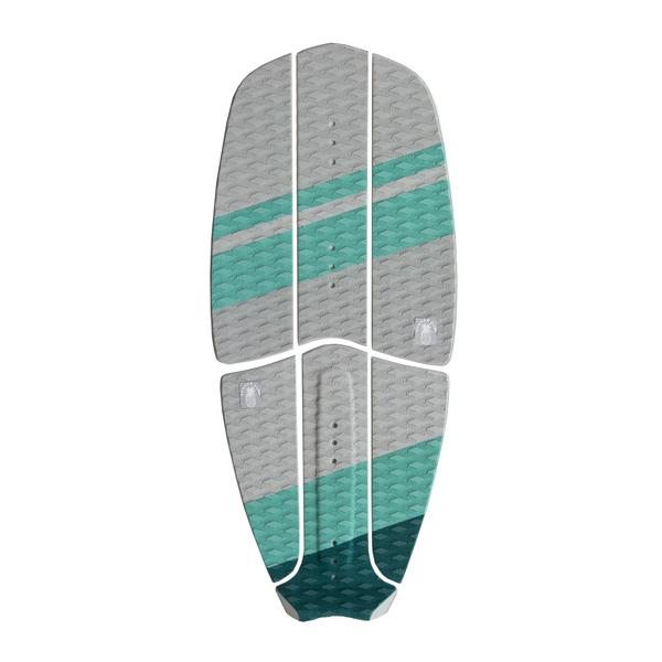 Ananas Surf kitesurfboard green traction pad set