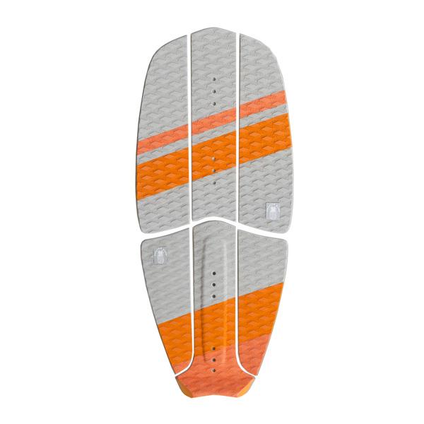 Ananas Surf kitesurfboard orange traction pad set