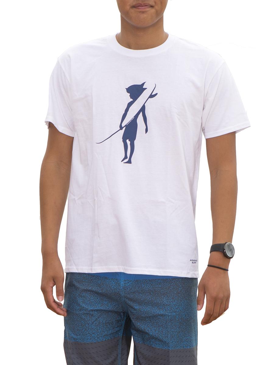 Ananas Surf men cotton t-shirt white