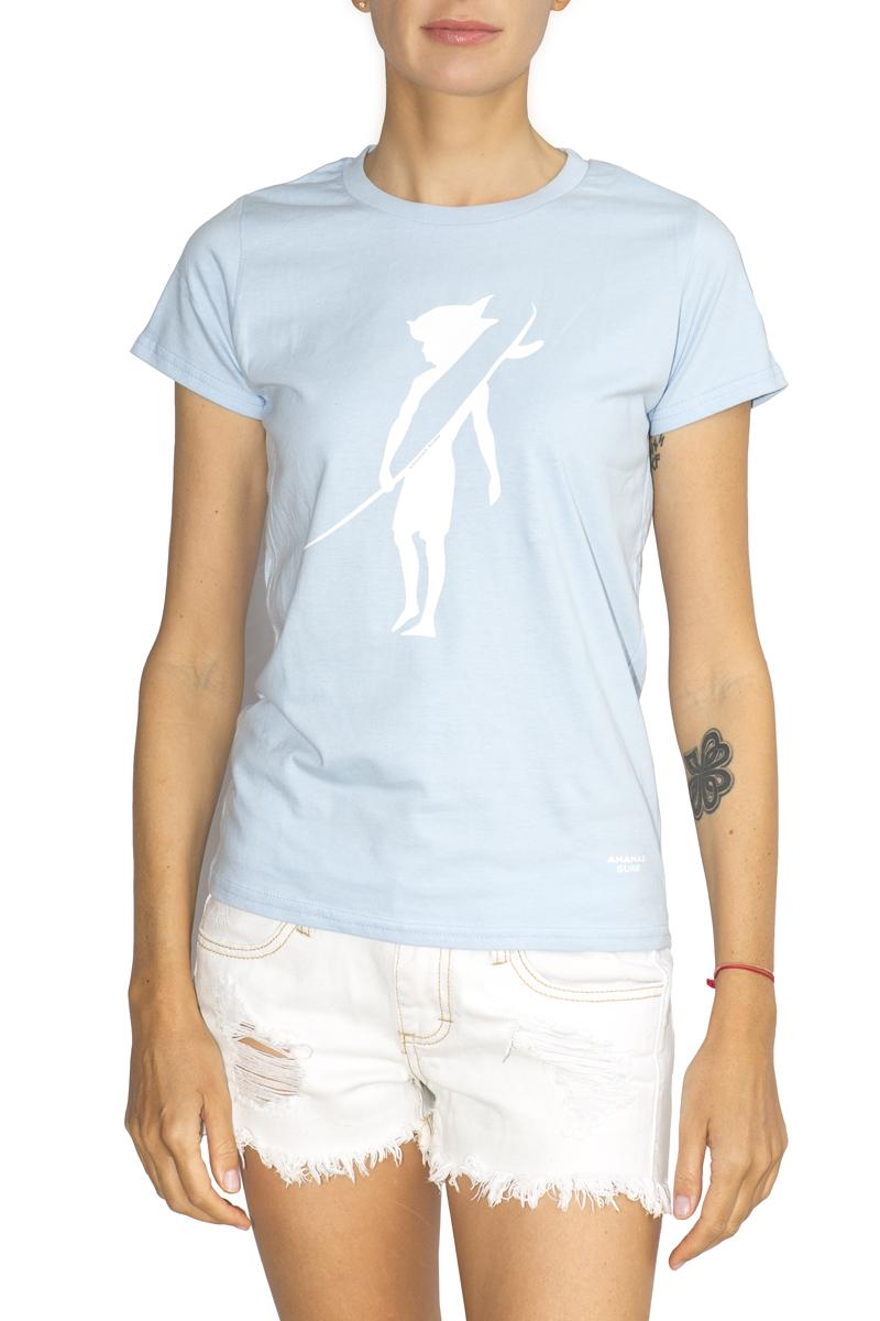 Ananas Surf women cotton t-shirt blue sky