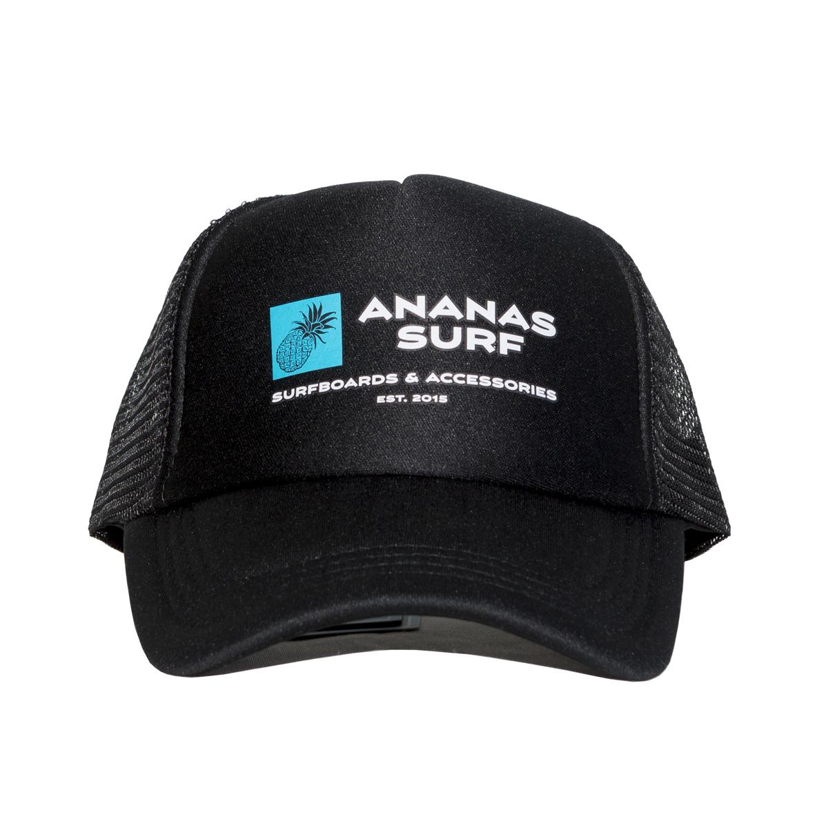 Ananas Surf The Logo beach mesh cap black