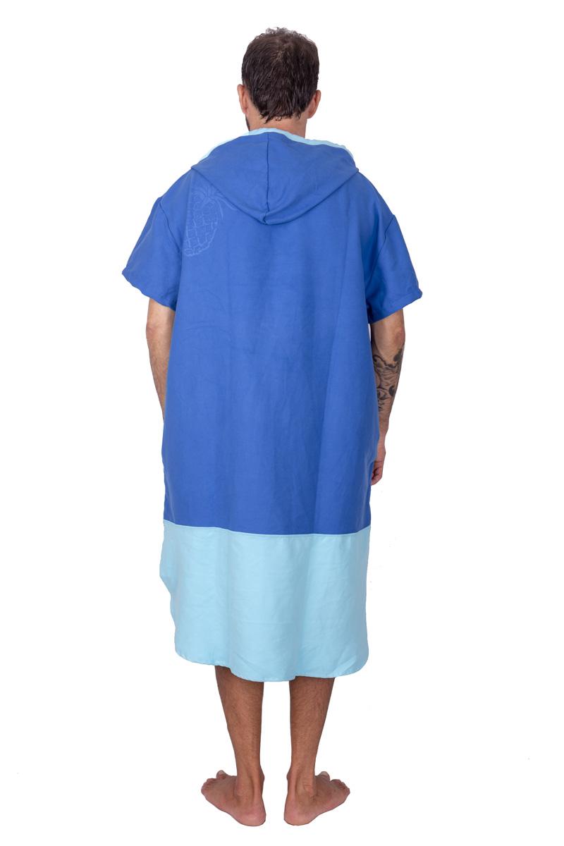 ANANAS SURF microfiber suede cloth beach poncho blue