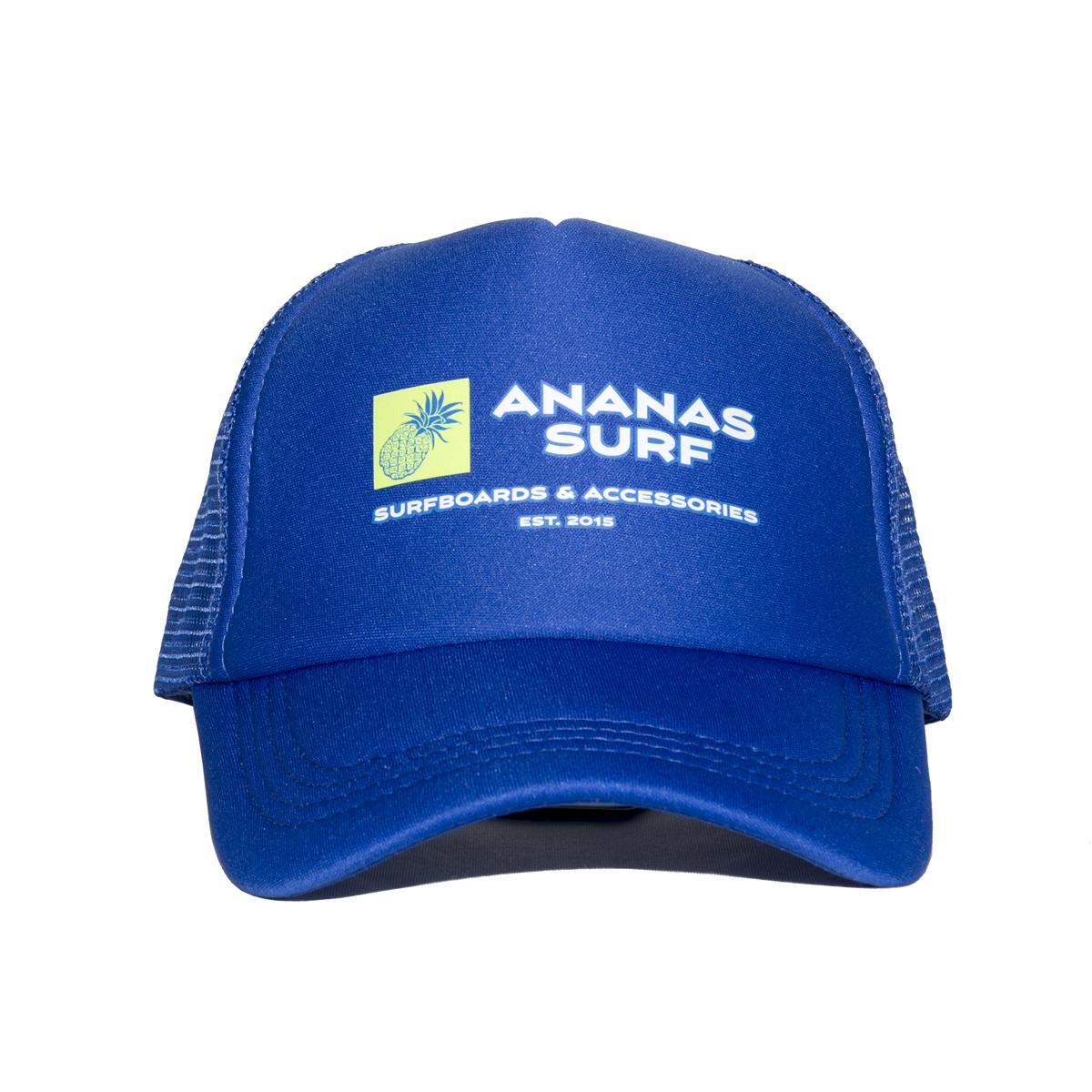 Ananas Surf The Logo beach mesh cap blue front