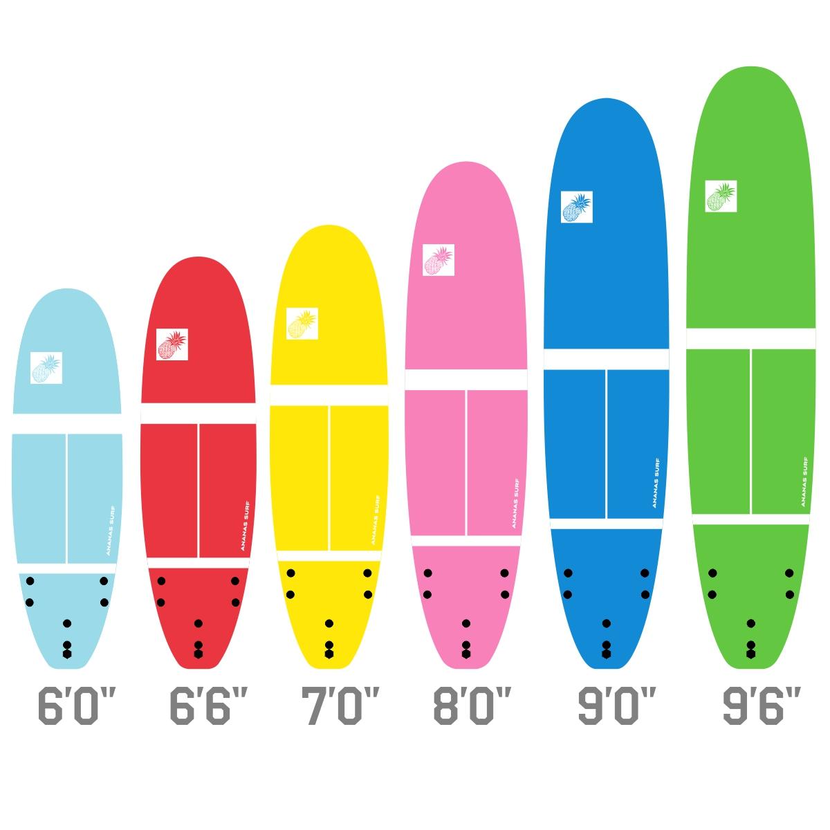 ananas surf school softboard 2018