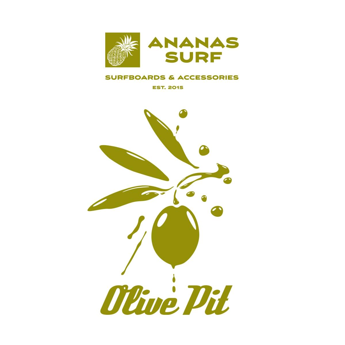Ananas Surf Olive Pit surfboard logo