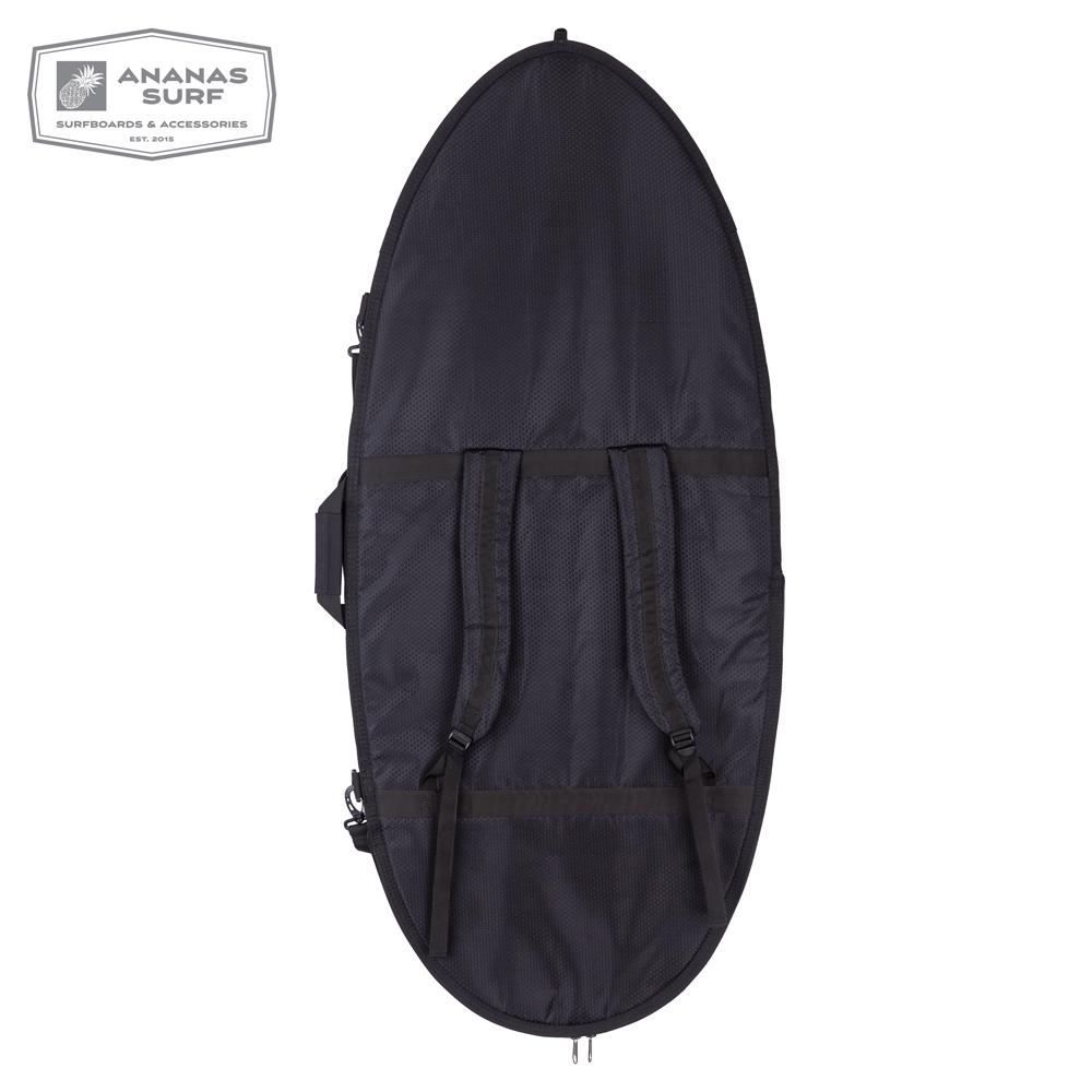 "Ananas Surf Skimboard 57"" Delux cover black back"