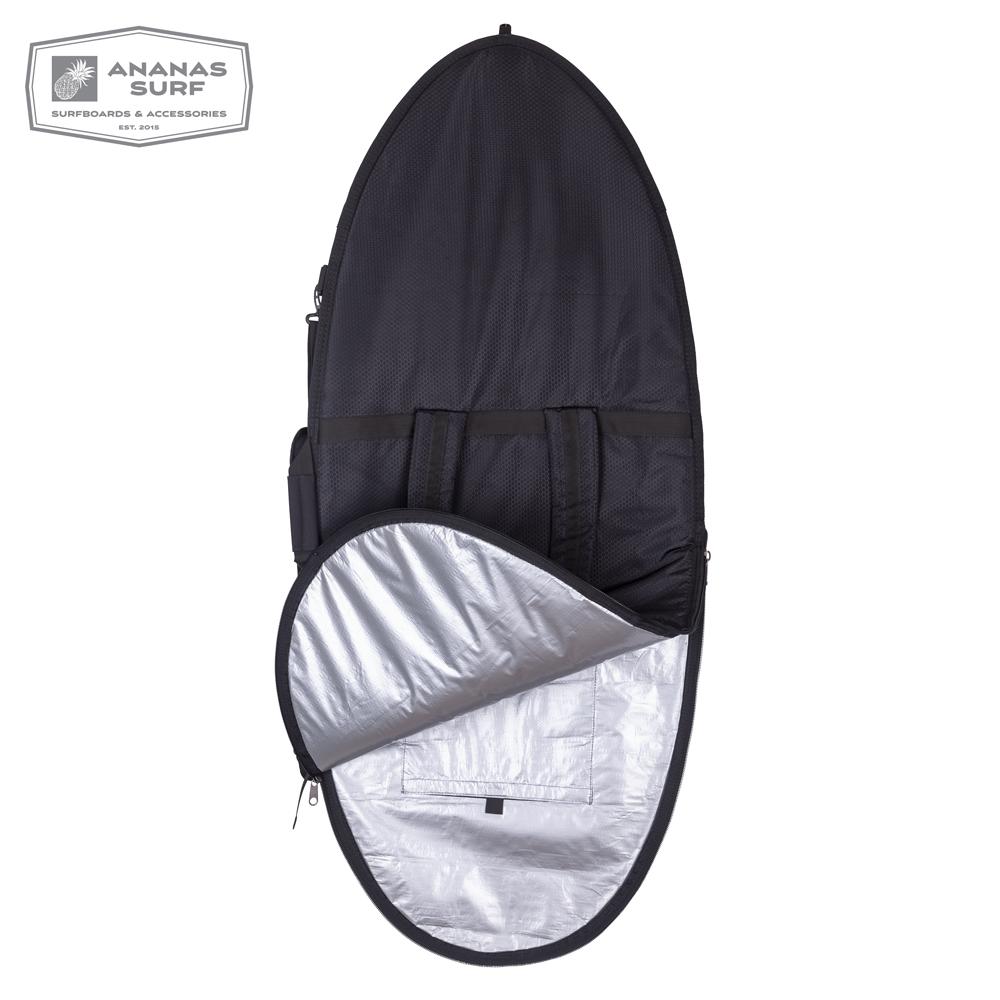 "Ananas Surf Skimboard 57"" Delux cover black inside"