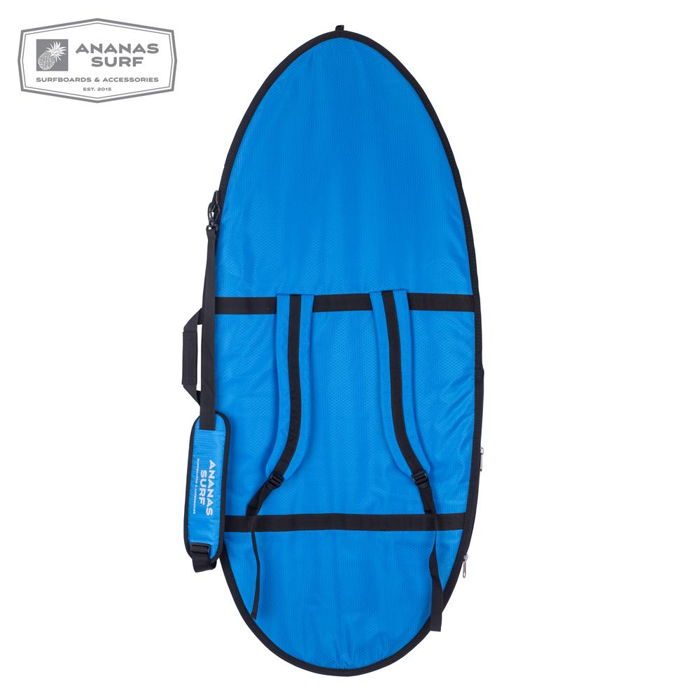 "Ananas Surf Skimboard 57"" Delux cover blue backpack"