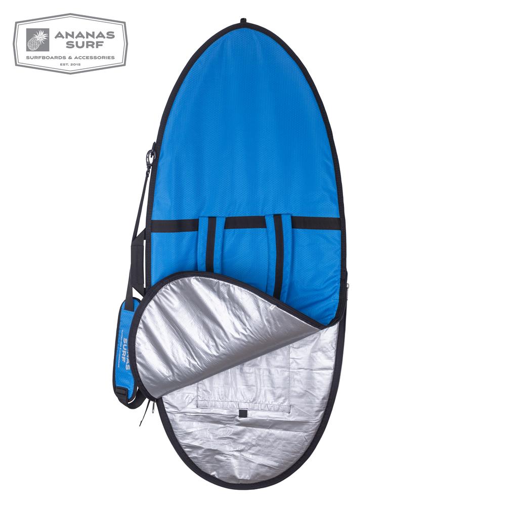 "Ananas Surf Skimboard 57"" Delux cover blue inside"